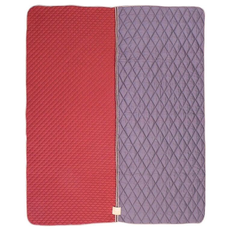 Piet Hein Eek Vintage Italian Silk Quilt Blanket For Sale