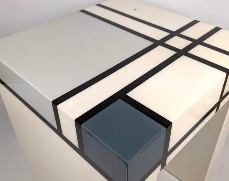 American Mondrian Limited Edition Hand-Lacquered Cube Table, Barneys New York, 2007 For Sale