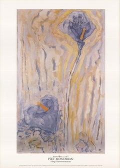 1996 After Piet Mondrian 'Aronskelken' Modernism Multicolor,Pastel Lithograph