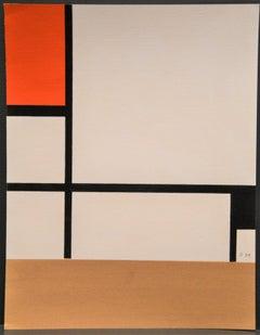 Composition - Original Stencil After P. Mondrian - 1957