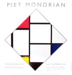 "Piet Mondrian-National Gallery-31.5"" x 30""-Serigraph-1995-Modernism-Multicolor"