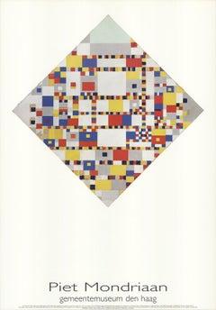 "Piet Mondrian-Victory Boogie Woogie-39.25"" x 27.5""-Poster-1986-Modernism"