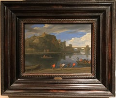 Oil Painting of Landscape with 'The Papal Palace at Avignon'