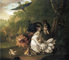 An assembly of farmyard fowl and other birds - Still Life