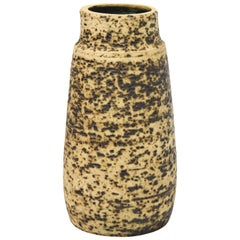 Pieter Groeneveld Speckled Ceramic Vase, Holland, circa 1960s