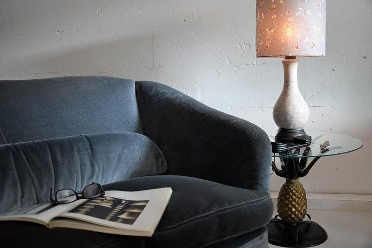 Pieter Groeneveldt Rare Craquelé Ceramic Pair of Mid-Century Modern Table Lamps  For Sale 7