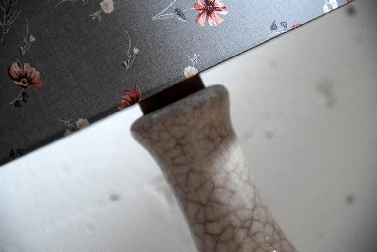 Pieter Groeneveldt Rare Craquelé Ceramic Pair of Mid-Century Modern Table Lamps  For Sale 4