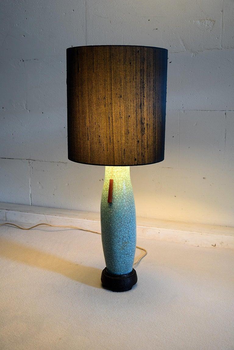 Pieter Groeneveldt Rare Craquelé Ceramic Table Lamp Midcentury For Sale 4