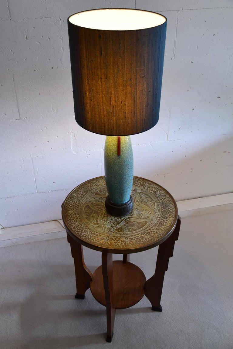 Pieter Groeneveldt Rare Craquelé Ceramic Table Lamp Midcentury For Sale 5