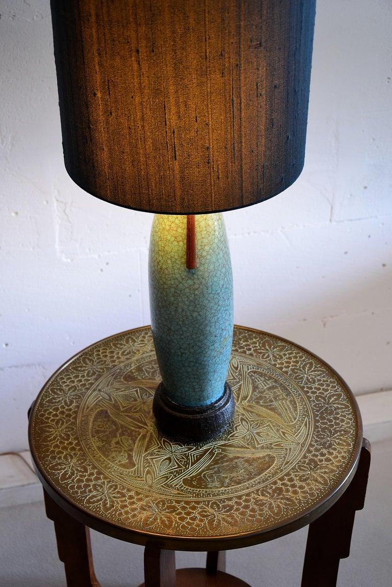 Pieter Groeneveldt Rare Craquelé Ceramic Table Lamp Midcentury For Sale 6