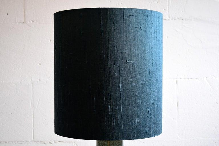 Mid-20th Century Pieter Groeneveldt Rare Craquelé Ceramic Table Lamp Midcentury For Sale