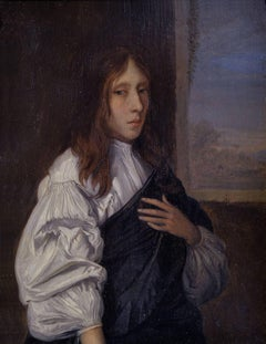 Portrait of a Young Man  - 17th Century Portrait in Oil