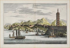 Collection of Three Etchings by P. van Der AA (View Of Hukoen/Anning/Nanjing)