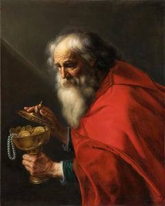 Attributed to Pieter van Mol (1599-1650) : Portrait of a Magus - Flemish School