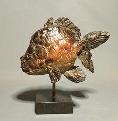 Cyrillus Bronze Sculpture Fish In Stock