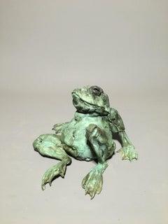 Rolando Bronze Sculpture Frog In Stock