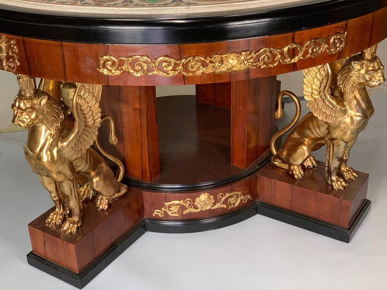 Pietra Dura Empire Table For Sale 6