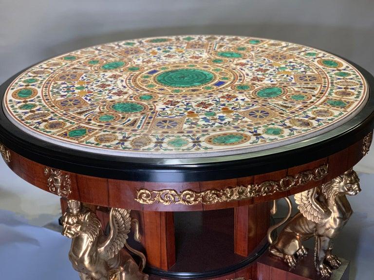 Pietra Dura Empire Table For Sale 7
