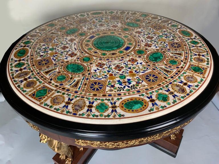 20th Century Pietra Dura Empire Table For Sale