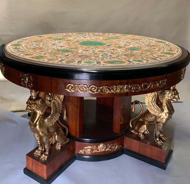 Pietra Dura Empire Table For Sale 1