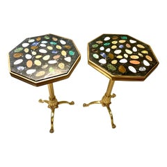 Pietra Dura Mosaic Side Tables