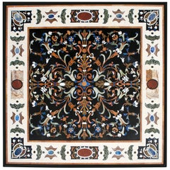 Pietra Dura Square Table Top, Inspired by Italian Models of the 16th Century