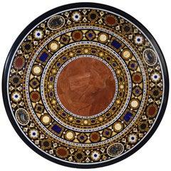 """Pietra Dura"" Tabletop, Marble and Hardstones, circa End of 20th Century"