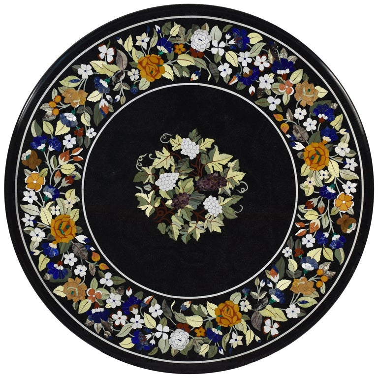 """""""Pietra Dura"""" Tabletop, Marble and Hardstones, circa End of the 20th Century For Sale"""