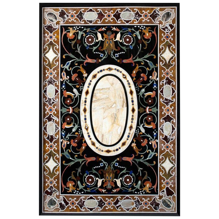 """""""Pietra Dura"""" Tabletop, Marble and Hardstones, circa Late 20th Century For Sale"""