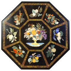 Pietra Dura Tabletop, Marble and Hardstones, circa Late 20th Century