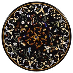 """Pietra Dura"" Tabletop, Marble and Hardstones"", circa Late 20th Century"