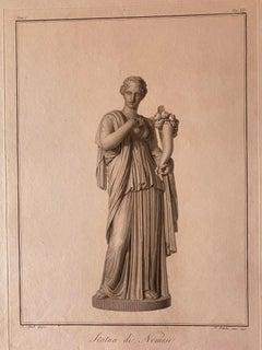 Nemesis Statue - Original Etching by Pietro Bettelini - 1795