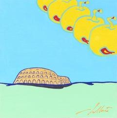 Frutti del Tempo (Roma), Pop Surrealist Painting by Pietro Bulloni