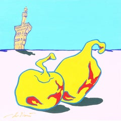 Lo Ete (a Firenze), Pop Surrealist Painting by Pietro Bulloni