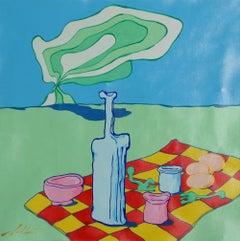 Picnic, Pop Surrealist Painting by Pietro Bulloni