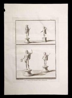 Ancient Roman Statue - Original Etching by Pietro Campana - 18th entury