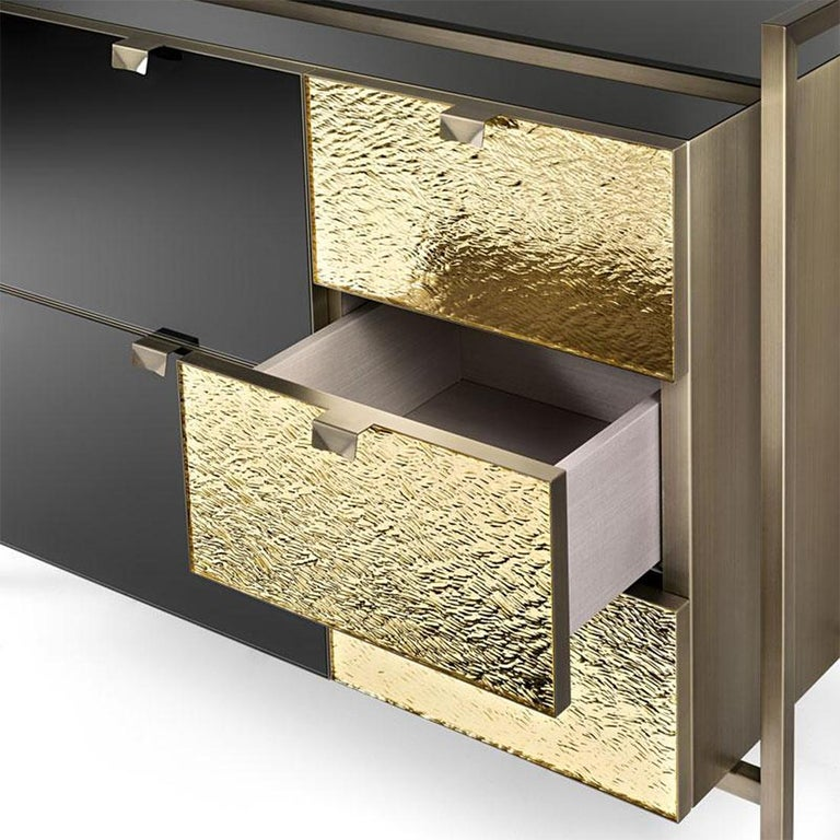 Metal Pietro Chest of Drawers For Sale