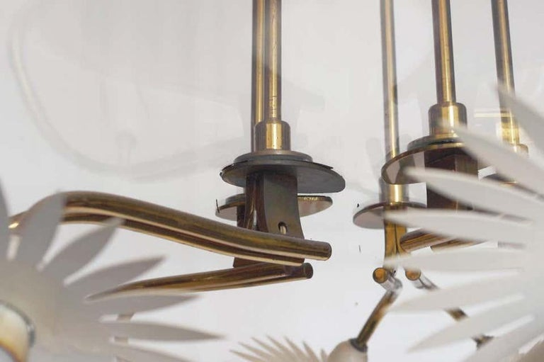 Mid-20th Century Pietro Chiesa Chandelier for Fontana Arte For Sale