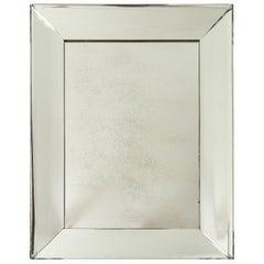 Pietro Chiesa Fontana Arte, Crystal Glass Mirror, Milan, Italy, c. 1950