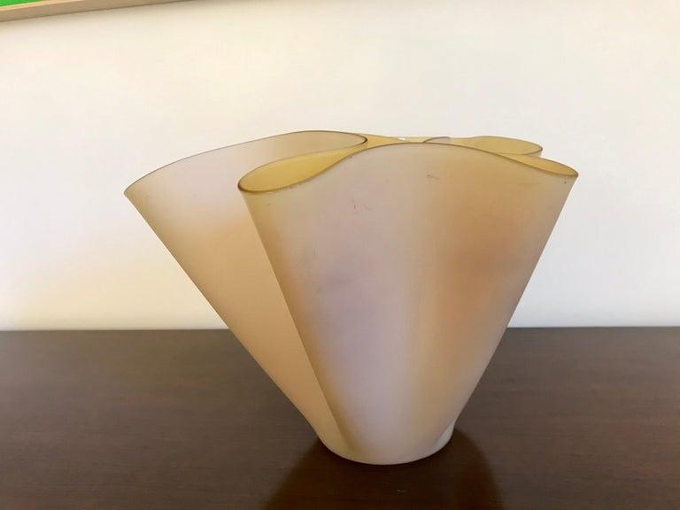 Pietro Chiesa Fontana Arte Sculptural Glass Vase For Sale 3