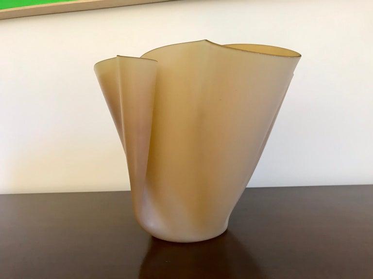Pietro Chiesa Fontana Arte Sculptural Glass Vase For Sale 4