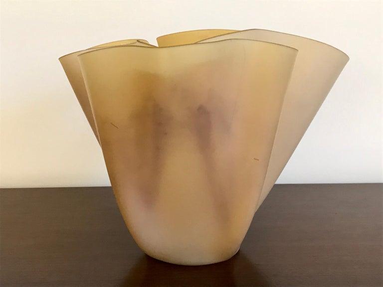 Pietro Chiesa Fontana Arte Sculptural Glass Vase For Sale 7