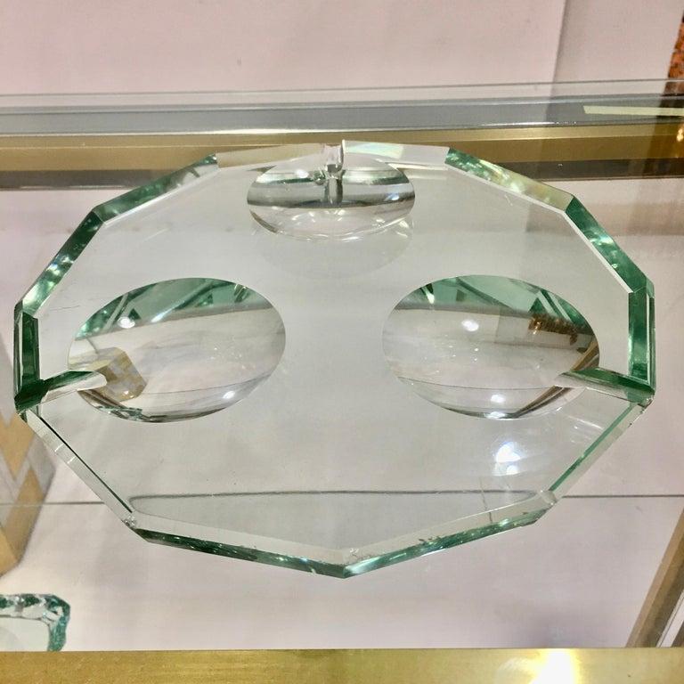 Pietro Chiesa for Fontana Arte Dodecagon Crystal Ashtray For Sale 4