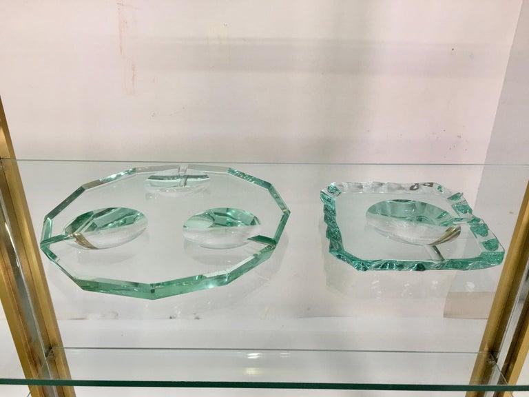 Pietro Chiesa for Fontana Arte Dodecagon Crystal Ashtray For Sale 5