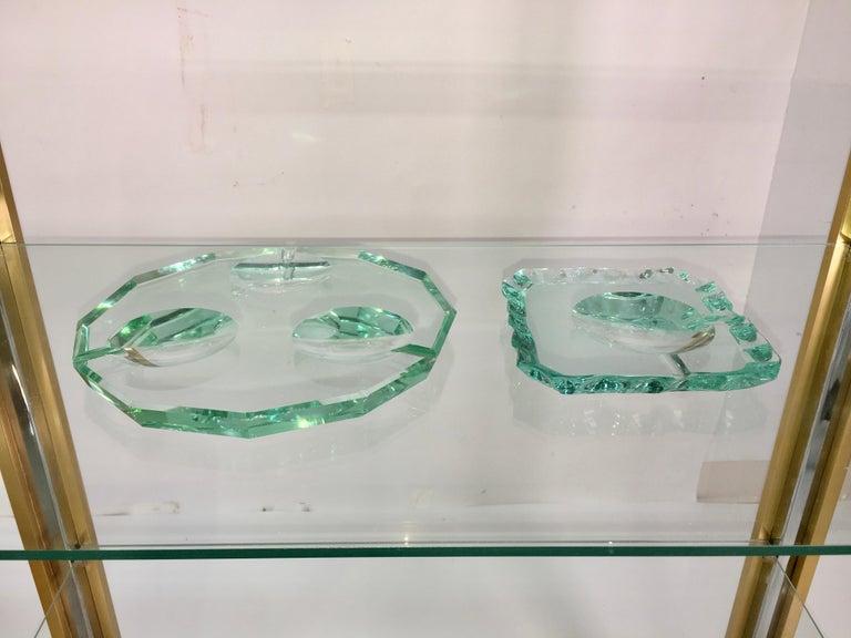 Pietro Chiesa for Fontana Arte Dodecagon Crystal Ashtray For Sale 6