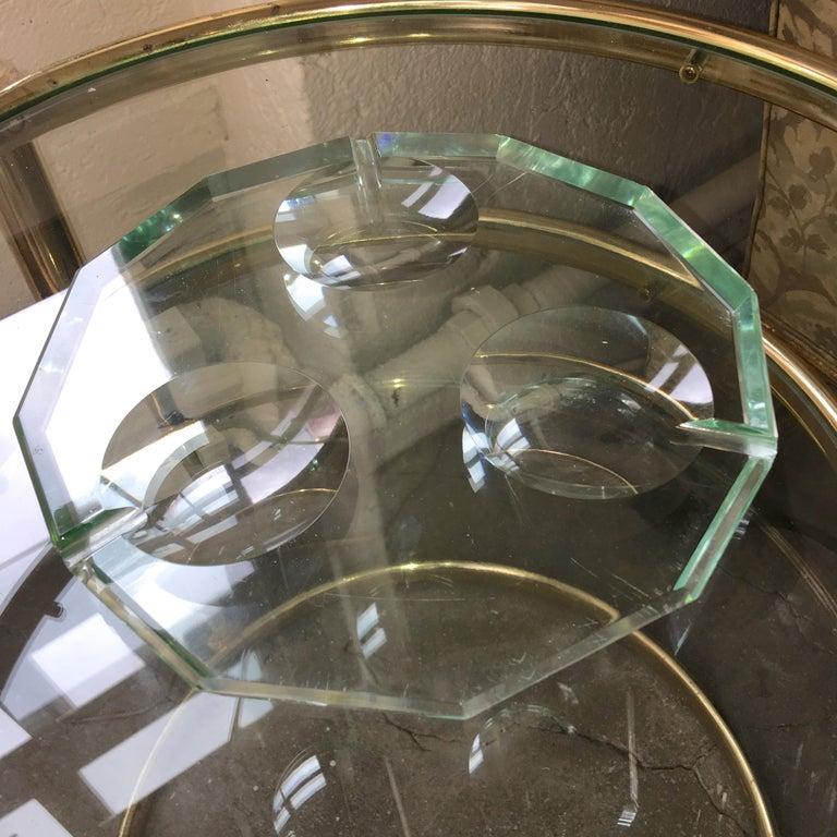 Pietro Chiesa for Fontana Arte Dodecagon Crystal Ashtray For Sale 9