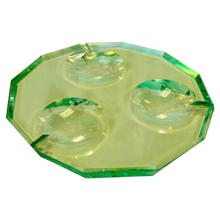 Pietro Chiesa for Fontana Arte Dodecagon Crystal Ashtray For Sale