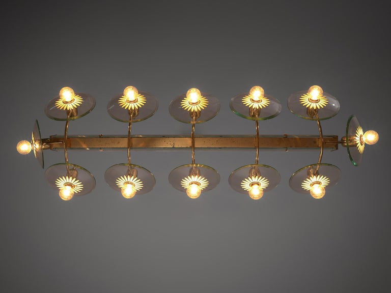 Pietro Chiesa for Fontana Arte Grand Chandelier In Good Condition For Sale In Waalwijk, NL