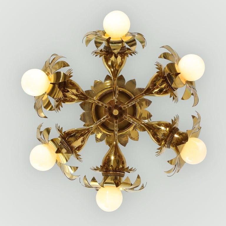 Pietro Chiesa for Fontana Arte Rare Chandelier For Sale 4