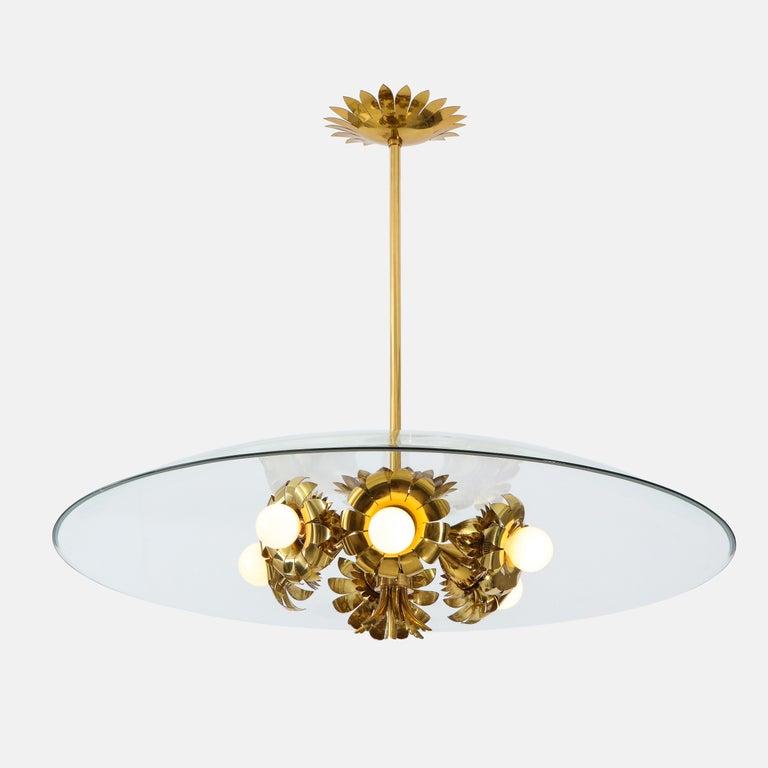 Pietro Chiesa for Fontana Arte Rare Chandelier For Sale 2